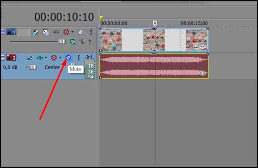 Как вставить или удалить звуковую дорожку в sony vegas