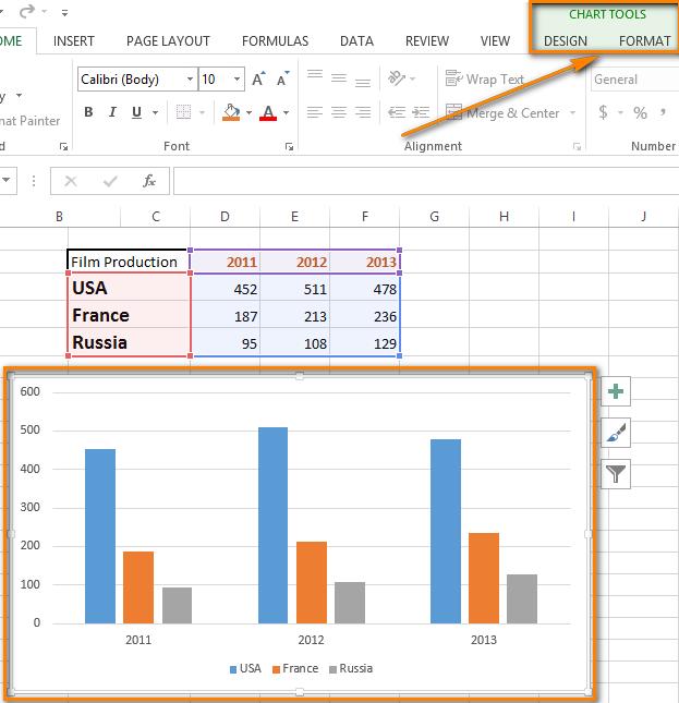 Как добавить или удалить названия данных в диаграмме excel