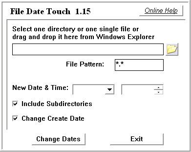 Как изменить дату создания файла
