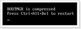 Как исправить ошибку «bootmgr is compressed»