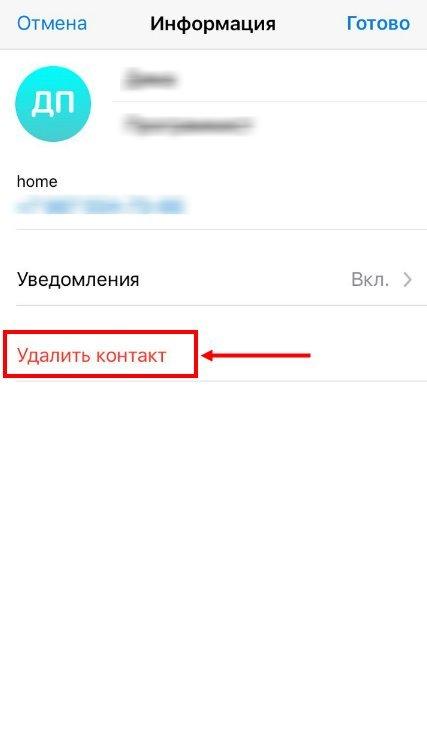 Как добавить или удалить контакт из telegram