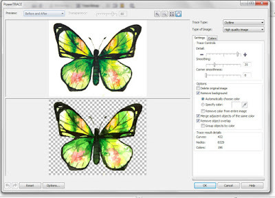 Как сделать в coreldraw изображение векторным
