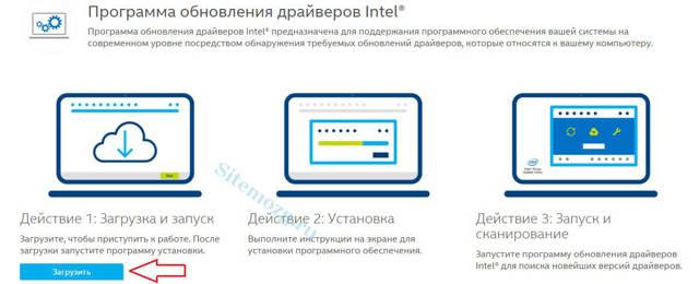 Обзор лучших программ для обновления драйверов intel Как обновить драйверы intel