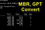 Как преобразовать диск gpt в mbr или mbr в gpt