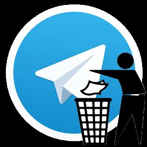 Как полностью удалить telegram