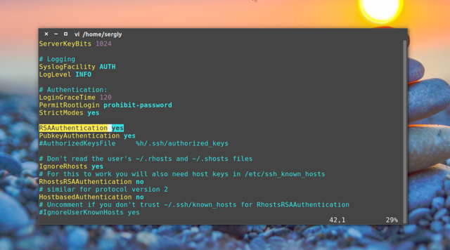 Установка и настройка ssh сервера в ubuntu