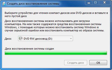 Как создать диск восстановления системы windows