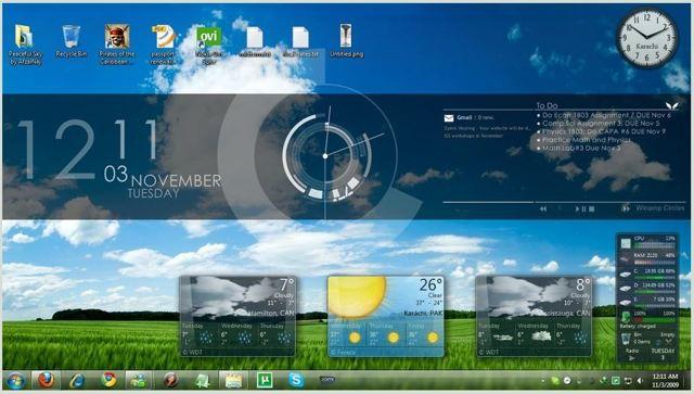 Как оформить windows в программе rainmeter