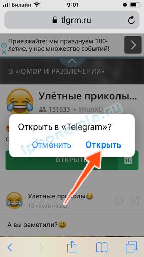 Как искать канал в telegram