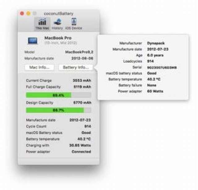 Как узнать количество циклов зарядки macbook