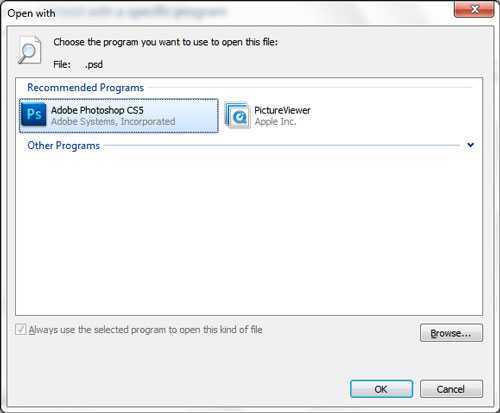 Что делать, если не работает функция «Открыть с помощью — Выбрать программу»