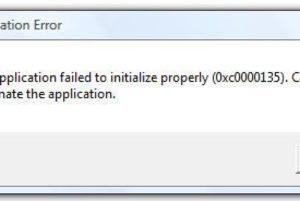 Как исправить ошибку при инициализации приложения 0xc0000135 windows