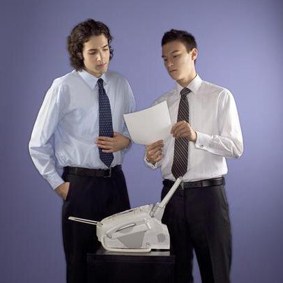 Как отправить или принять документ через факс