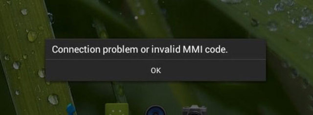 Как исправить ошибку «Неполадки подключения или неверный код mmi»