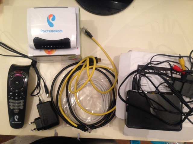 Подключение приставки интерактвиного ТВ Ростелеком