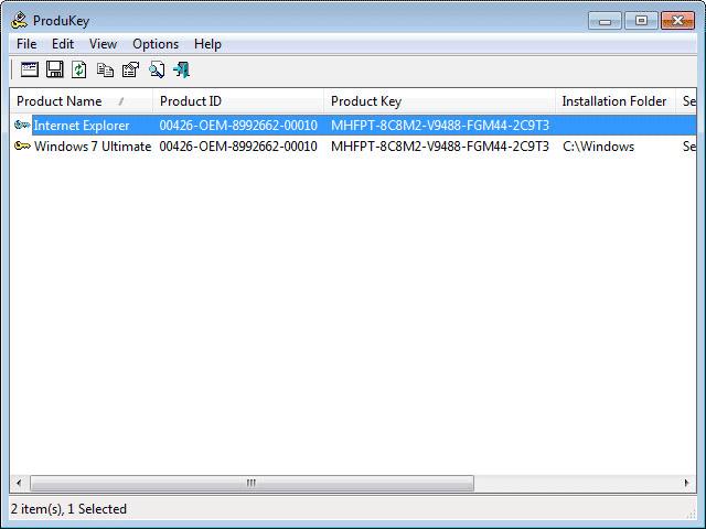 Как узнать лицензионный ключ установленной windows