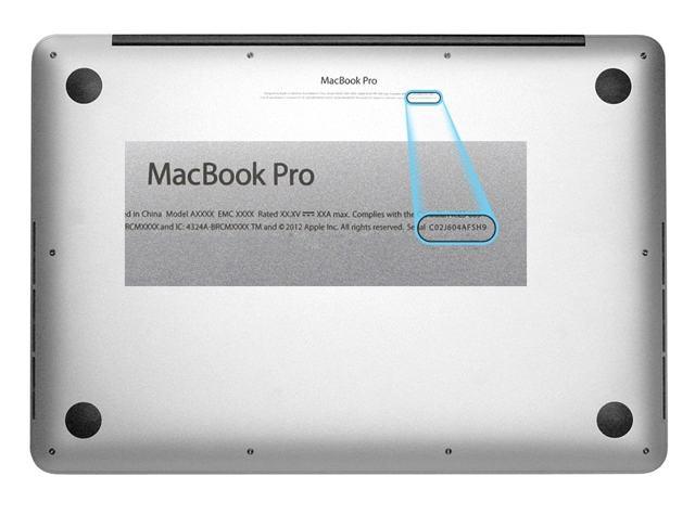 Как узнать модель macbook
