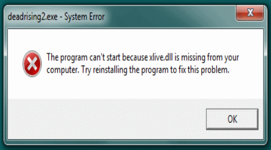 Как исправить ошибку, если отсутствует xlive.dll