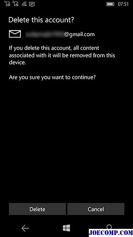 Как удалить учётную запись на windows phone
