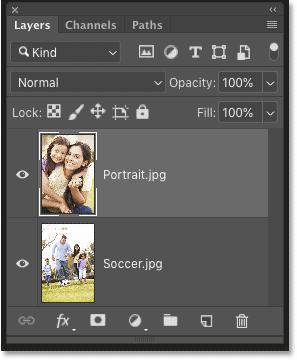 Как объединить картинки в Фотошопе