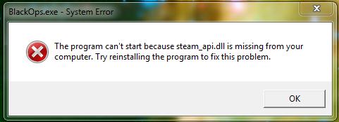 Что делать, если «Отсутствует steam api.dll»
